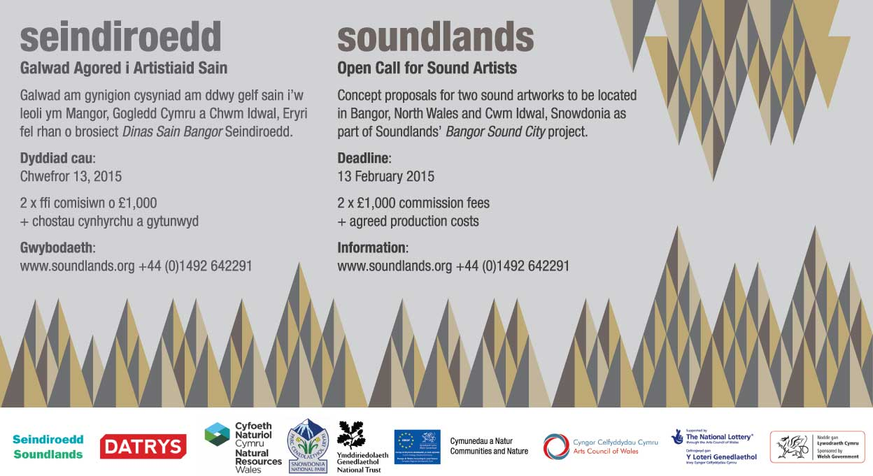Soundlands Sound Art Commission advert CCQ magazine