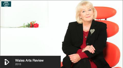 screenshot BBC Wales Arts Review 2015