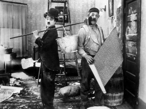 film still His New Job - Charlie Chaplin (1915)